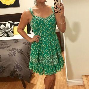 Lauren Conrad green pattern sundress